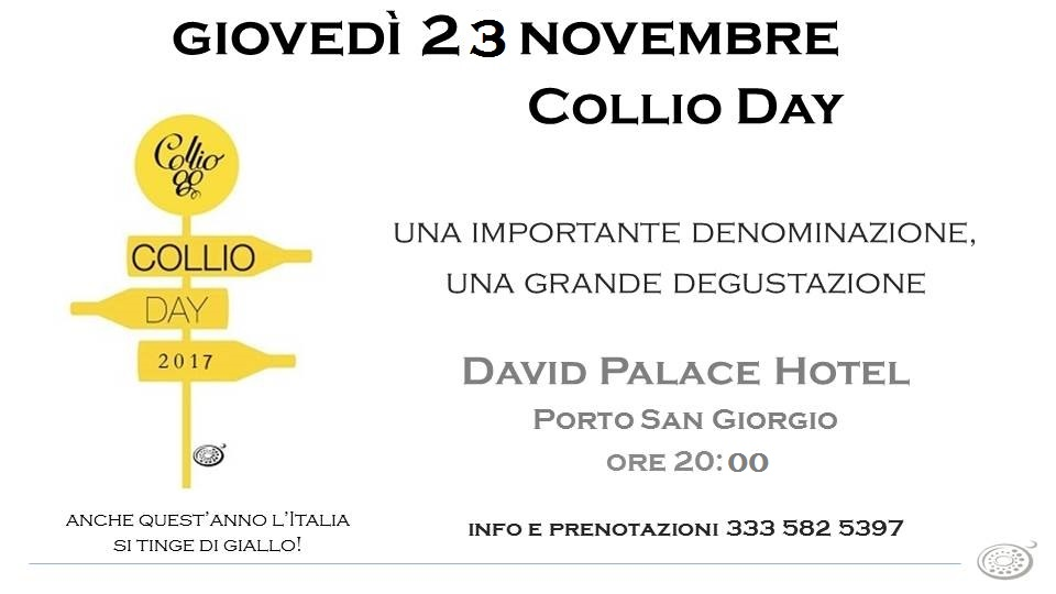Collio Day  23-11-2017 Hotel David Palace, Porto San Giorgio
